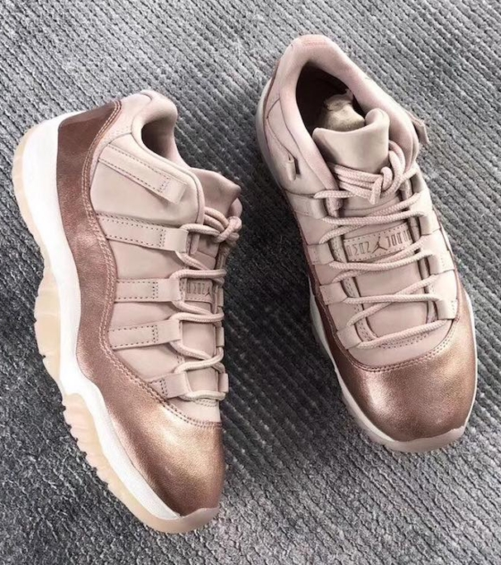6755fea00eba AIR JORDAN 11 LOW WMNS ROSE GOLD